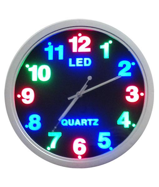 Reloj con luces led govinda - Reloj decorativo de pared ...