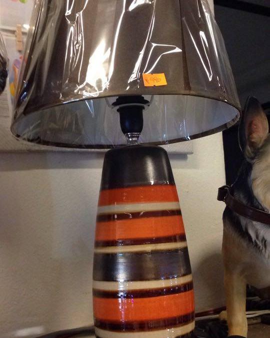 lampara en cerámica diseño a rayas
