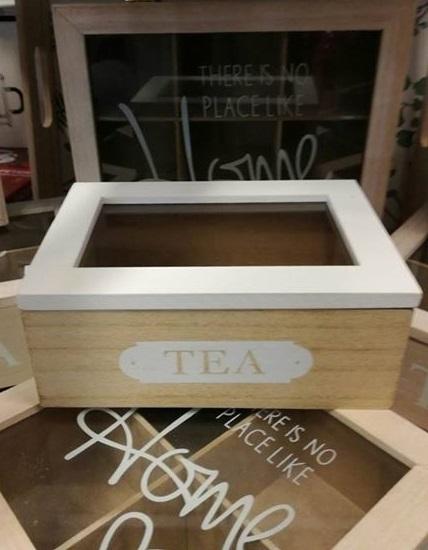 Caja de té sin reparticiones