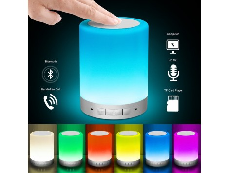 Parlante Portátil Inalambrico Bluetooth Lámpara